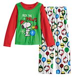 Girls 4-16 Jammies For Your Families® Peanuts Snoopy Top & Bottoms Pajama Set