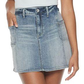 Juniors' American Rag Patch Pocket Denim Skirt