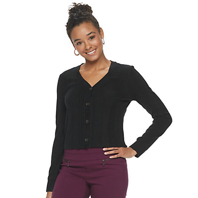 Juniors' Candie's® Crop Cardigan