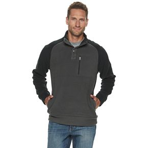 Men's SONOMA Goods for Life? Button Mock Neck Sherpa Fleece