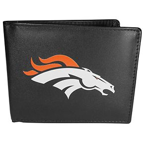 Men's Denver Broncos Leather Bi-Fold Wallet