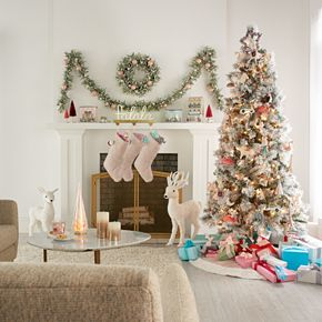 "LC Lauren Conrad 3"" x 6"" Glitter Pillar Candle"
