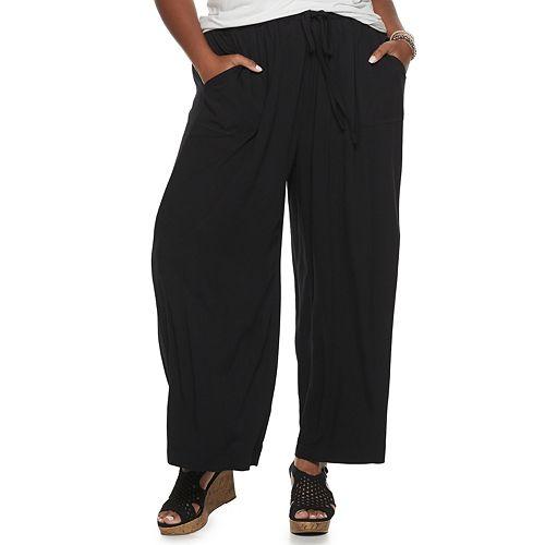 Plus Size Juniors' American Rag Wide-Leg Pants