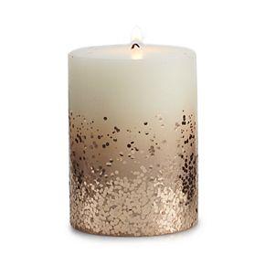 "LC Lauren Conrad 3"" x 4"" Glitter Pillar Candle"