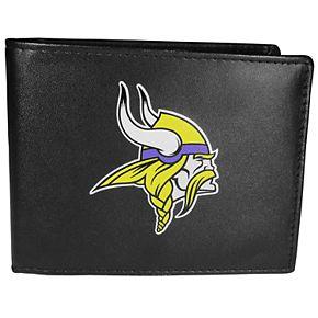 Men's Minnesota Vikings Leather Bi-Fold Wallet