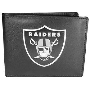Men's Oakland Raiders Leather Bi-Fold Wallet