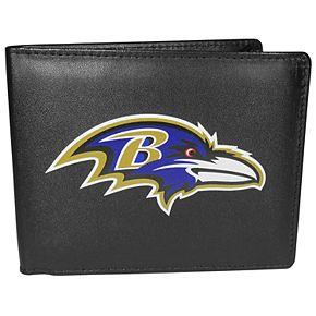 Men's Baltimore Ravens Leather Bi-Fold Wallet