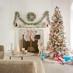 LC Lauren Conrad Glitter Glass Christmas Tree Table Decor