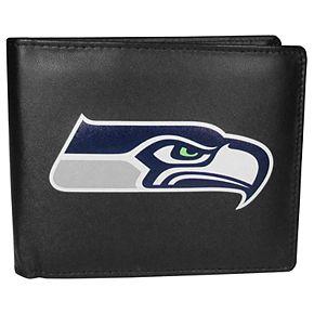 Men's Seattle Seahawks Leather Bi-Fold Wallet