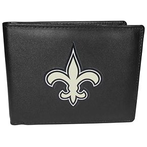 Men's New Orleans Saints Leather Bi-Fold Wallet