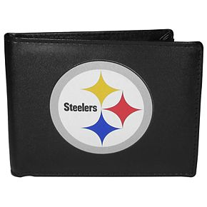 Men's Pittsburgh Steelers Leather Bi-Fold Wallet