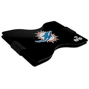 Men's Miami Dolphins Hardcase RFID Wallet