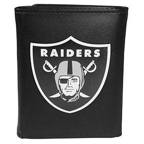 Men's Oakland Raiders Logo Tri-Fold Wallet