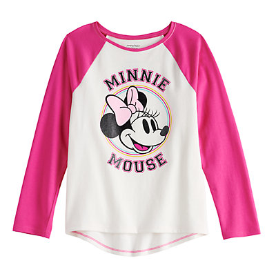 Disney's Minnie Mouse Girls 4-12 Raglan Tee by Jumping Beans®