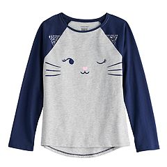 4787f3a8e1fc Girls 4-12 Jumping Beans® Long Sleeve Raglan Graphic Tee