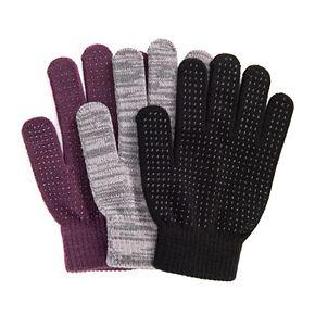 MUK LUKS Women's 3-Pack Gloves