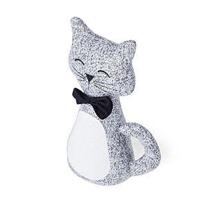 Elements Decorative Gray Cat Door Stopper