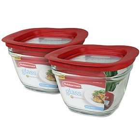 Rubbermaid Easy Find Lids 5.5-Cup Glass Food Storage Container (2-Pack)