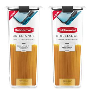 Rubbermaid Brilliance 8.1-Cup Pantry Airtight Food Storage Container (2-Pack)