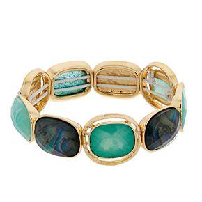 Dana Buchman Abalone Stretch Bracelet