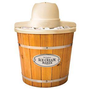 Nostalgia Electrics 4-qt. Electric Wood Bucket Ice Cream Maker