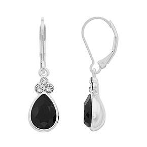 Dana Buchman Black Crystal Teardrop Earrings
