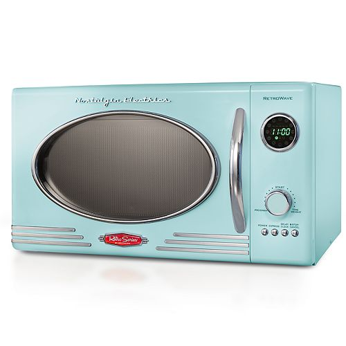 Nostalgia Electrics Retro Aqua 800 Watt Microwave Oven by Nostalgia Electrics