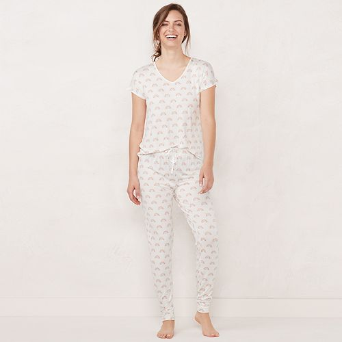 Women's LC Lauren Conrad Dolman-Sleeve Tee & Pants Pajama Set