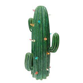 St. Nicholas Square® Ceramic LED Cactus Decor