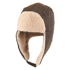 Men's Levi's Canvas Sherpa-Lined Trapper Hat