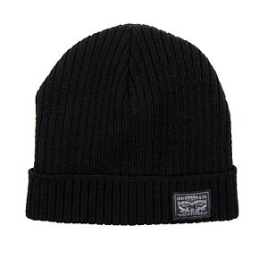 Men's Levi's Knit Beanie Hat with Patch