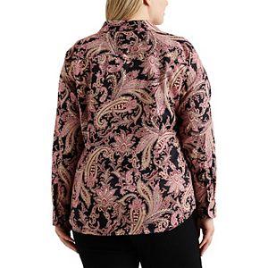 Plus Size Chaps Button-Down Woven Shirt