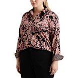 Plus Size Chaps Polished No-Iron Slim Fit Shirt