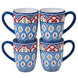 Certified International Tangier 4-pc. Mug Set