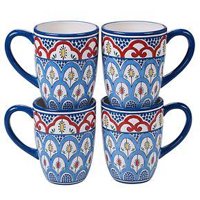 Certified International Tangier 4-pc. Mug Set