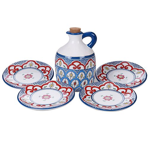 Certified International Tangier 5-pc. Olive Oil Set