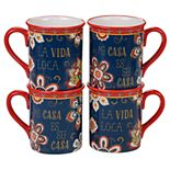 Certified International La Vida 4-pc. Mug Set