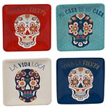 Certified International La Vida 4-pc. Canape Plate Set