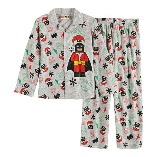 Boys 4-12 Lego Batman 2-Piece Fleece Pajama Set