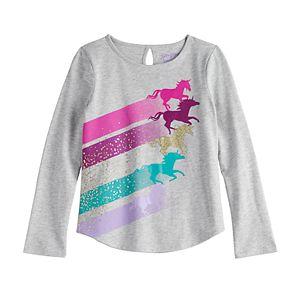 Girls 4-12 Jumping Beans® Glittery Unicorn Graphic Tee
