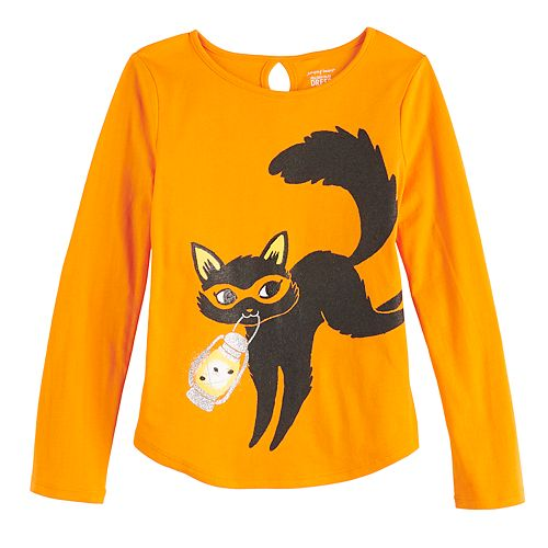 Girls 4-12 Jumping Beans® Halloween Cat Graphic Tee