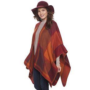 Women's Apt. 9® Colorblock Plaid Ruana
