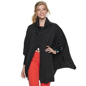 Women's Apt. 9® Knit Shawl with Toggles