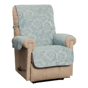 Innovative Textiles Lemont Scroll Jacquard Recliner/Wing Chair/Club Chair Furniture Slipcover