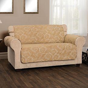 Innovative Textiles Lemont Scroll Jacquard Loveseat Furniture Slipcover