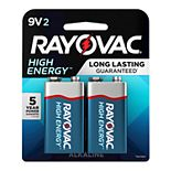 Rayovac High Energy 9V Battery (2-Pack)