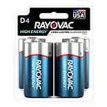 Rayovac High Energy D Batteries (4-Pack)