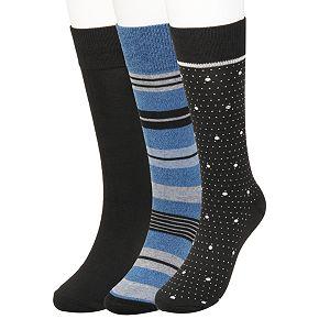 Men's Haggar Comfort Stripe Patterned Socks (3 pack)