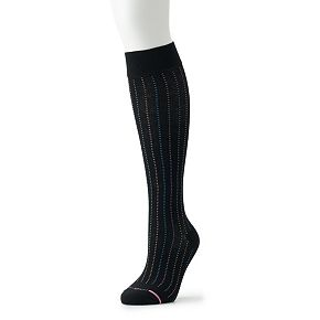 Women's Dr. Motion Everyday Mild Compression Knee-High Socks - Striped