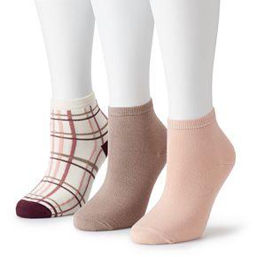 Women's SONOMA Goods For Life? Soft & Comfortable Ankle Socks (3-Pack)